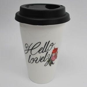Indigo 'Hello lovely' Travel Tumbler Mug